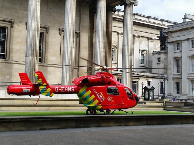 Rescue Helicopter, Red, Aircraft, Emergency
