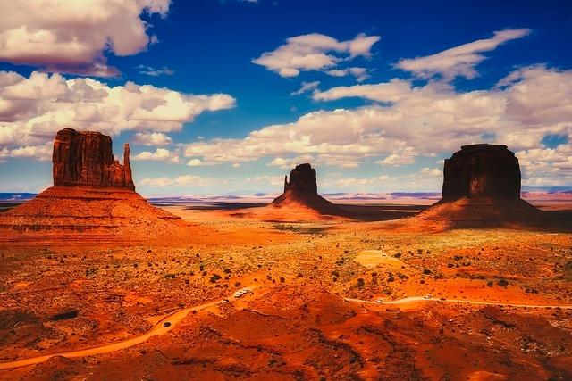 Monument Valley, Arizona, Rock, Red, Southwest, Tourism