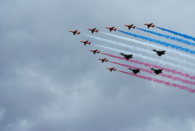 Typhoons, Red Arrows, Aerobatics, Formation