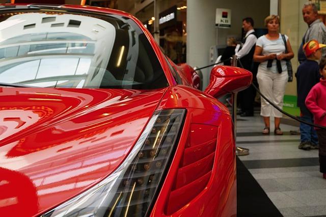 Auto, Ferrari, Red