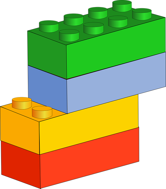 Blocks, Blue, Bricks, Building Blocks, Green, Red