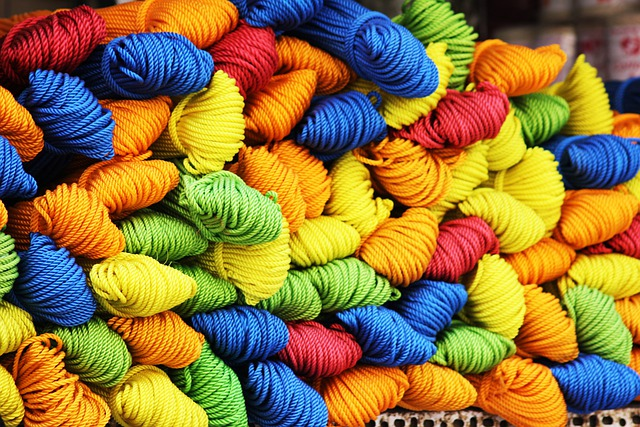Yarn, Wool, Cords, Colorful, Green, Blue, Yellow, Red