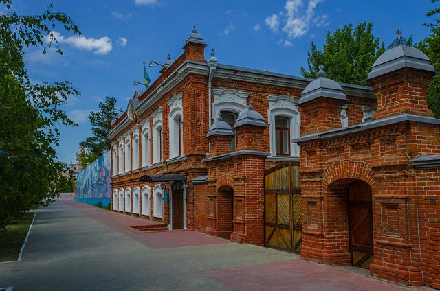 Brick House, Red Briks, Architecture, Art, Kostanay