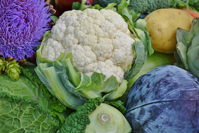 Cauliflower, Red Cabbage, Savoy, Kohlrabi, Onion