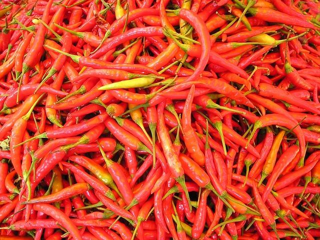 Chilli Pepper, Sharp, Spices, Laos, Chili, Hot, Red