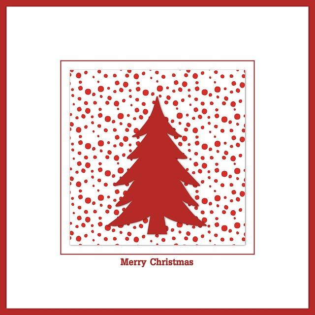 Christmas Card, Christmas, Map, Red, White