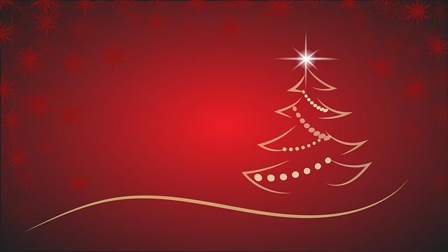 Red, Christmas Tree, Christmas, Merry Christmas
