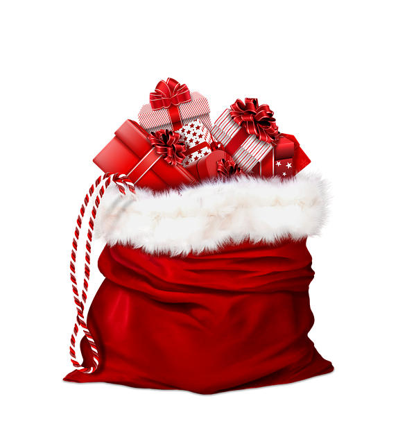 Gifts, Red, Bag, Santa Claus, Christmas Gift, Christmas