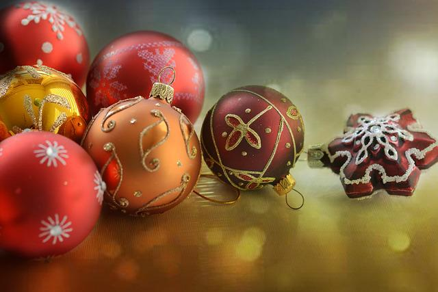 Christmas, Red, Gold, Christmas Balls, Star, Ball