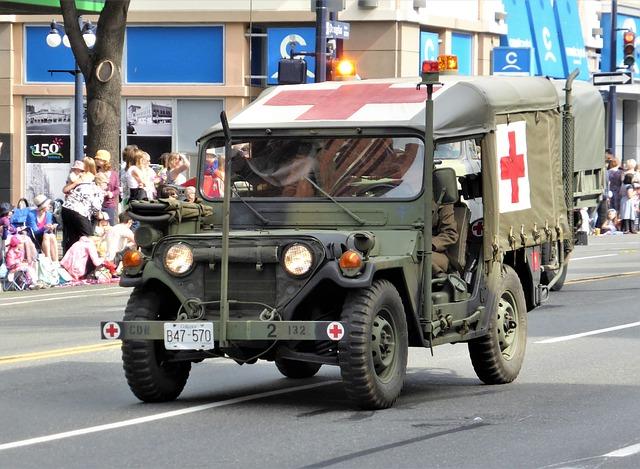 Vehicle, Jeep, Ambulance, Red Cross, War, Oldtimer