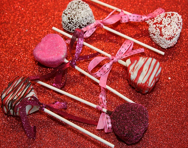 Cake Pop, Valentine's Day, Red, Hearts, Cake, Dessert