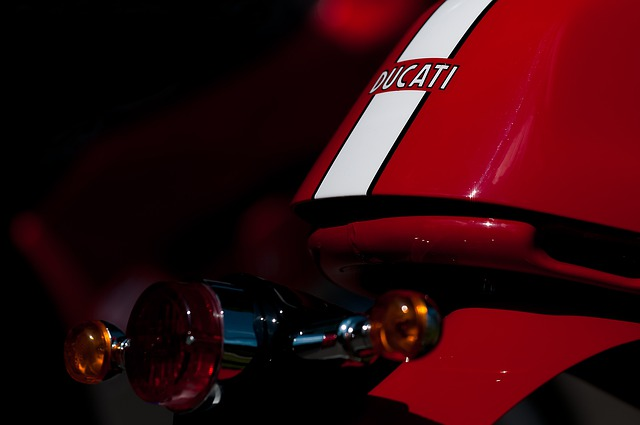 Ducati, Details, Red, Motorcycle, Back Light