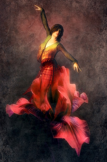 Fantasy, Blossom, Bloom, Red, Woman, Book Cover