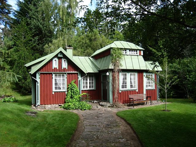 Sweden, Floby, Alphem, Aboretum, House, Red, Tree