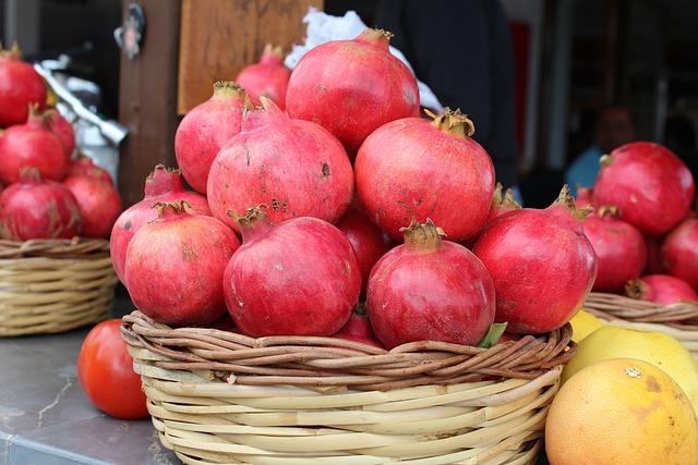 Fruit, Red, Pomegranate, Autumn, Harvest