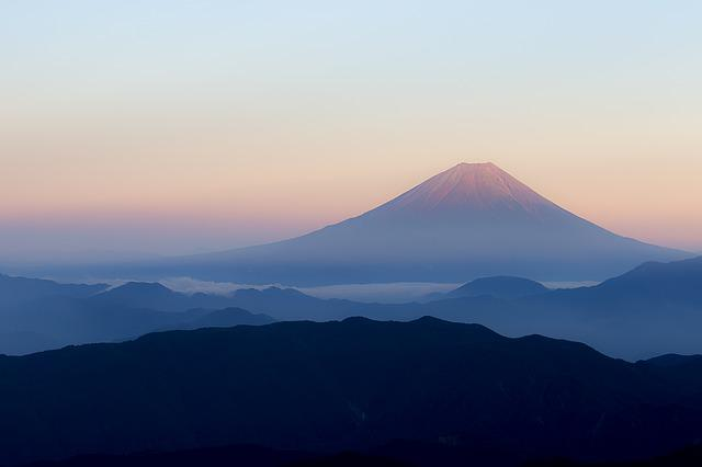 Mt Fuji, Japan, View From Kitadake Fuji, Red Fuji