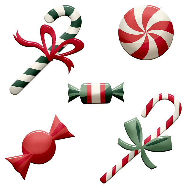 Christmas Candy, Candy Cane, Peppermint, Red, Green