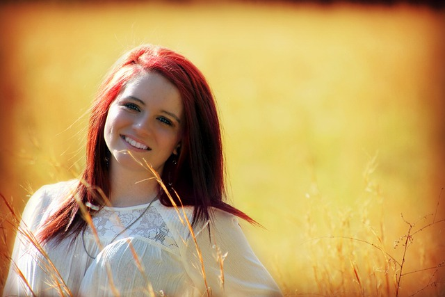Girl, Outdoors, Smiling, Happy, Outside, Red Hair