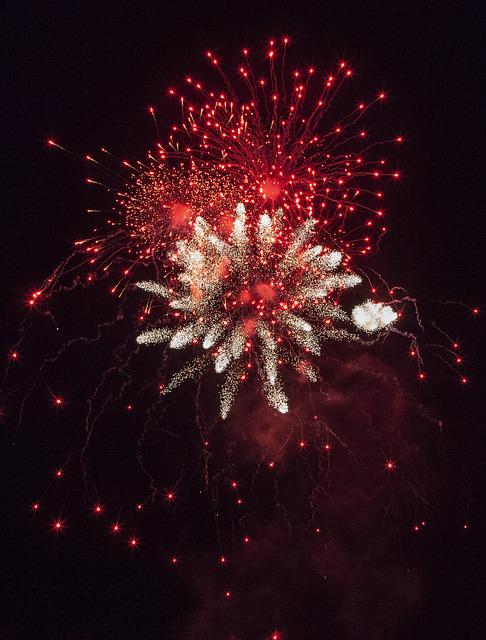 New Year, New Year 2017, Fireworks, Happy New Year, Red