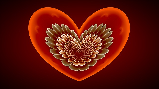 Fractal, Heart, Red, Love, Angel Wings, Fractal Art