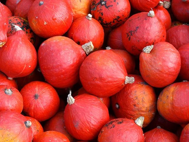 Pumpkins, Hokkaido, Squash, Kabocha, Vegetables, Red