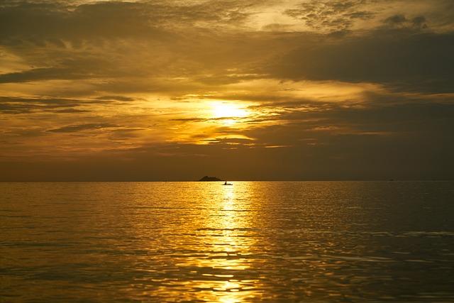 Red, Yellow, Sunset, Sunrise, Horizontal, Landscape