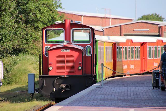 Langeoog, Island Railway, Railway, Red Locomotive