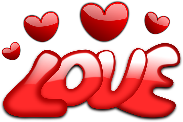 Love, Hearts, Valentine, Gloss, Red