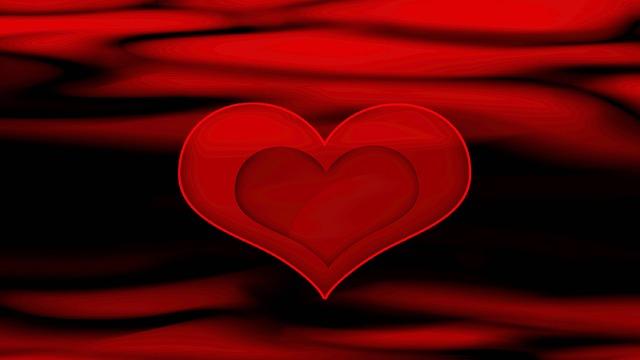 Red, Black, Heart, Valentines Day, Background, Love