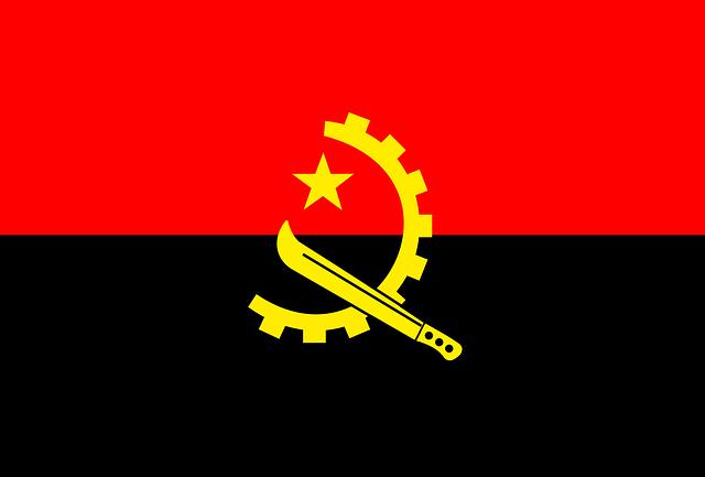 Angola, Flag, National, Symbols, Red, Black, Yellow