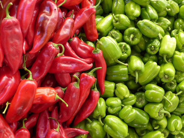 Paprika, Green, Red, Vegetables, Red Pepper