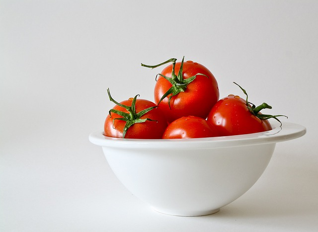 Tomatoes, Vegetables, Food, Fresh, Red, Porcelain Bowl