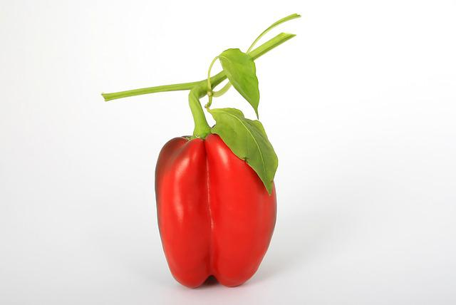 Bell Pepper, Red, Vegetable, Pepper, Raw, Healthy