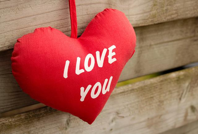 I Love You, Red, Wood, Wooden, Romantic, Love, Happy