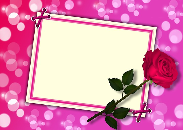 Design, Card, Texture, Red Rose, Bokeh, Background