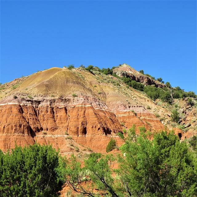 Palo Duro Canyon, Hiking, Red Sandstone, Blue Sky