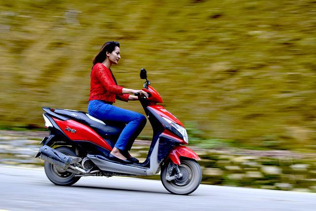 Panning, Scooter, Speed, Red