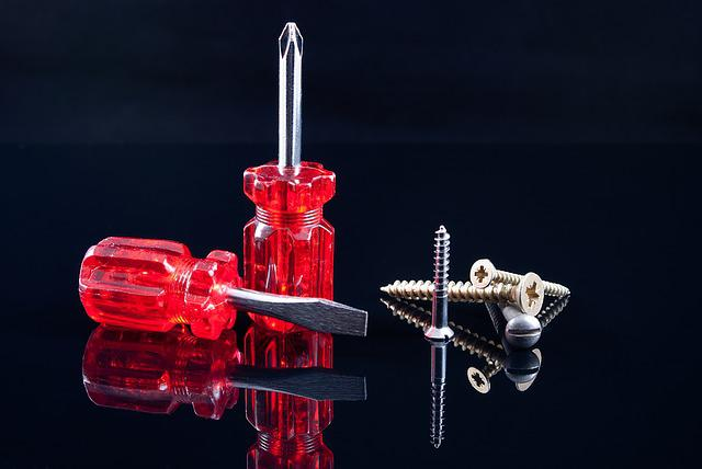 Screwdrivers, Screws, Red, Black, Tools, Work, Repair