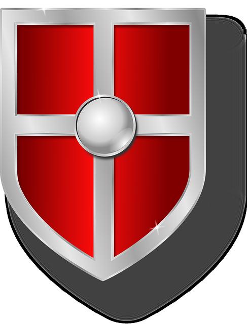 Armor, Color, Medieval, Metal, Metallic, Red, Shield