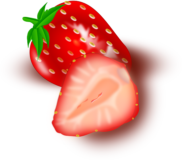 Strawberry, Fruits, Sliced, Slices, Red, Pink, Cut