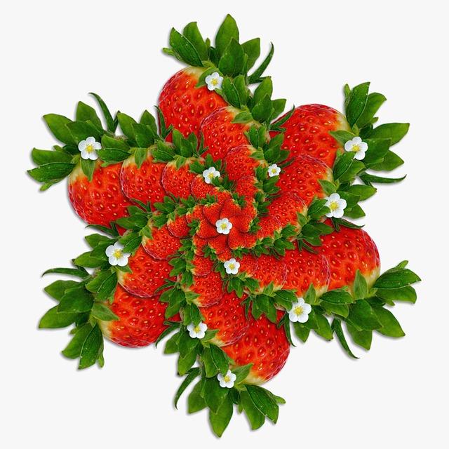 Strawberries, Red, Geometry, Background, Fresón