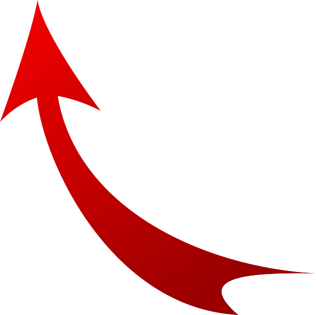 Arrow, Red, Up, Symbol, Icon