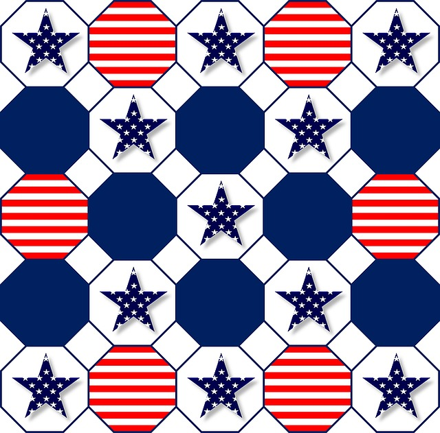 Patriotic, Symbolic, Red, White, Blue, Stars, Stripes