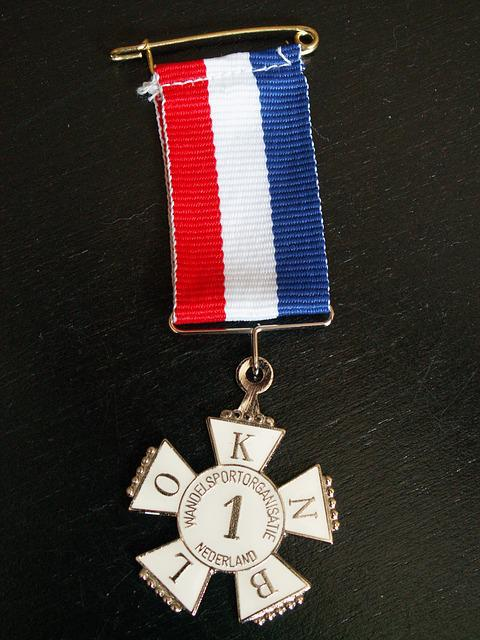 Medal, Avondvierdaagse, Red White Blue, Hiking