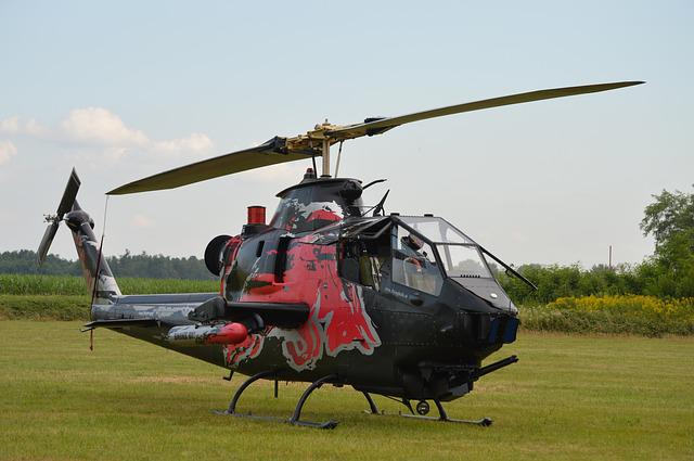 Helicopter, Cobra, Air, Flight, Military, Red-bull