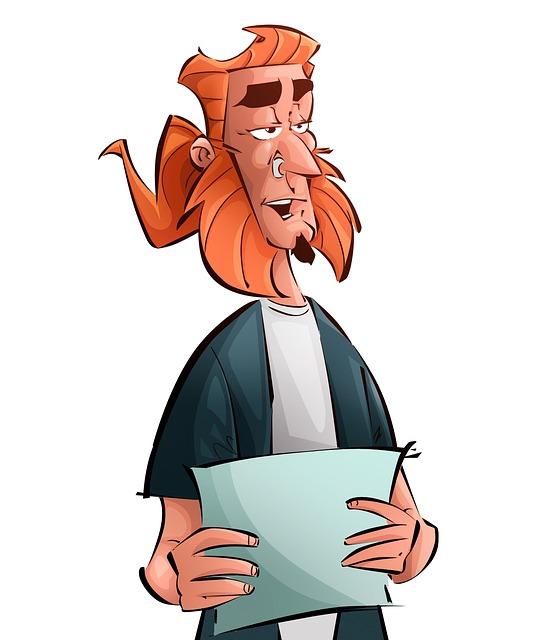 Creature, Reading, Man, Redhead