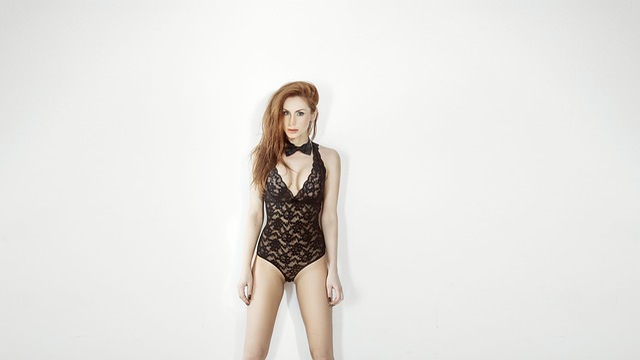 Girl, In Tight, Mini-dresses, Black, Redhead, Modern