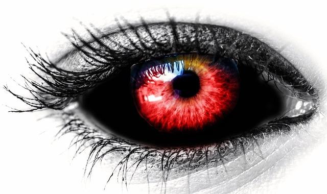 Eye, Black, Reds, Female, Red Color, Vampire