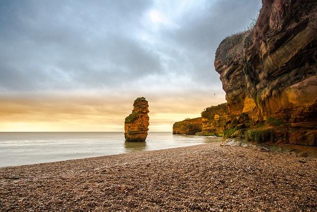 Reef, Coast, Beach, Ocean, Devon, England