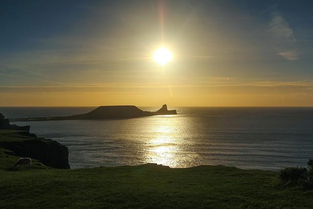 Sunset, Worm Head, Ocean, Reef